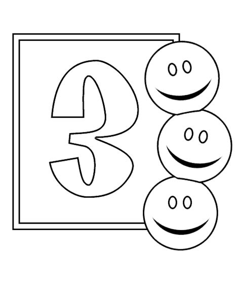 coloring page of the number 3 numbers 3 coloring page