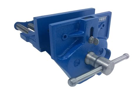 woodworkers bench vice yost m7ww rapid acting wood working vise 7 quot blue amazon
