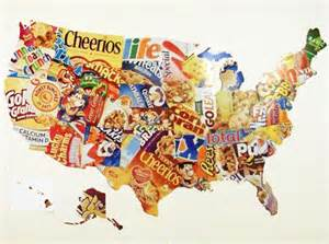us map made from cereal boxes 171 inhabitat