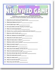 bridal shower newlywed questions wedding