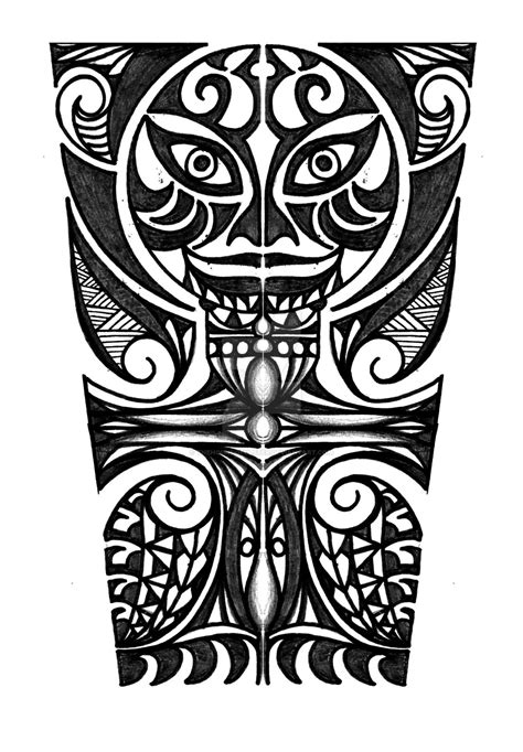 polynesian with cross forearm tattoo design by