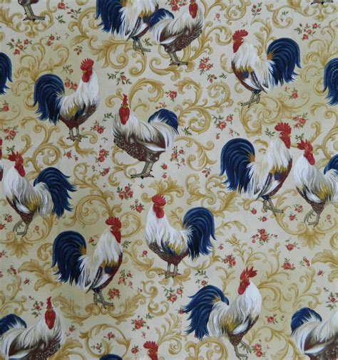 Patchwork And Quilting Fabrics - quilting patchwork cotton sewing fabric country rooster