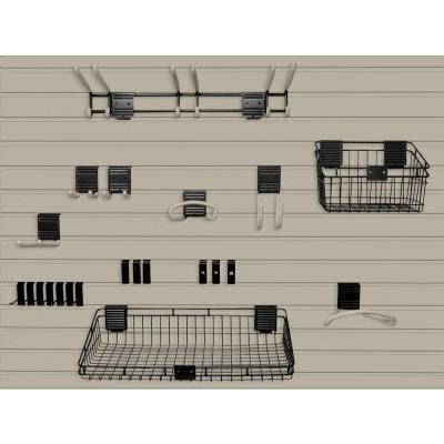 Slat Board Home Depot by Suncast Handiwall 4 Ft X 8 Ft Slat Wall Starter Kit In