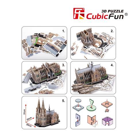 Cubicfun Cologne Cathedral 179 Pcs cologne cadral cubicfun mc160h 3d puzzle 179 pieces