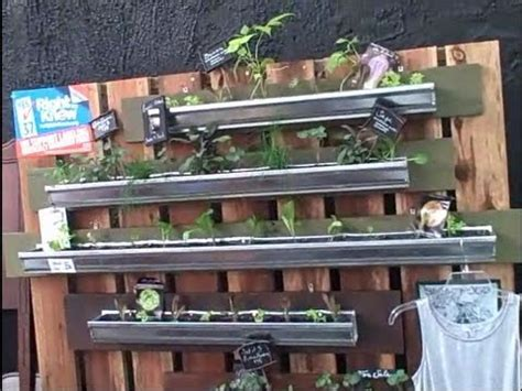 vertical gardening in gutters so you can grow food