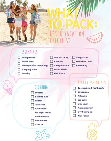 vacation checklist what to pack vacation checklist clairesblog