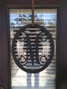 Front Door Monogram Letters Salemetal Monogram Door Hanger Monogrammed By Southerngreeters