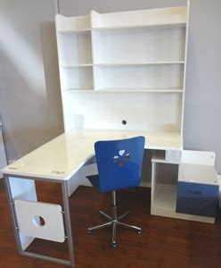 White Blue Childrens Corner Study Desk Including Desk Childrens Corner Desk