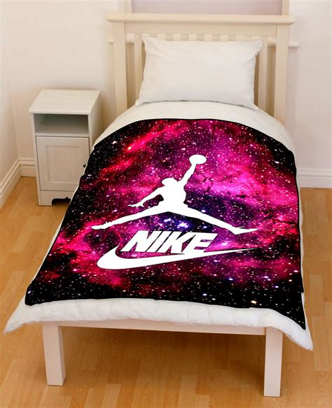 michael jordan bedding nike galaxy nebula michael jordan 23 bedding throw fleece