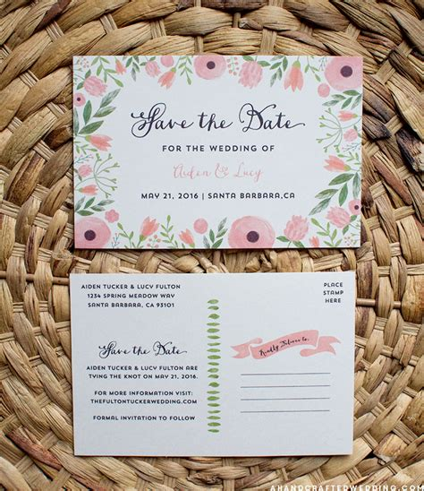 diy save the date cards templates free free printable save the date postcard templates diy style