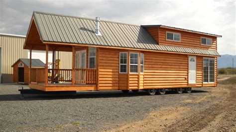gromer park model tiny home on a trailer