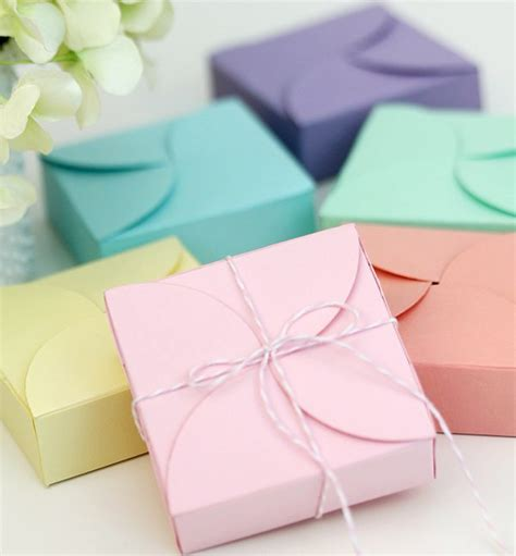 Handmade Gift Boxes - pretty petal boxes damask