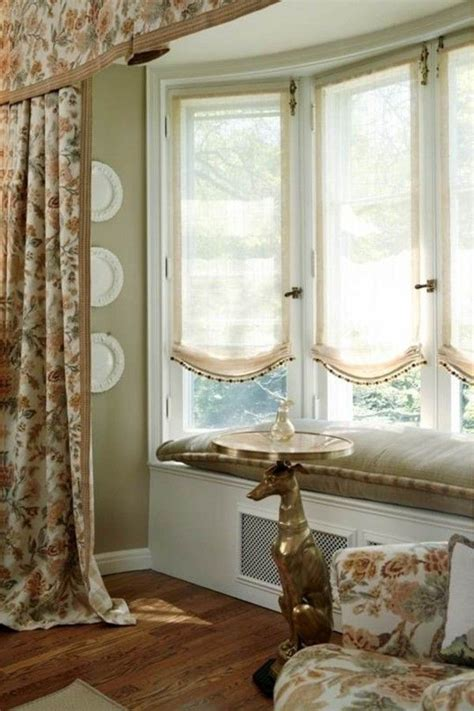 curtains for bay windows ideas adorable window treatment for bay windows window