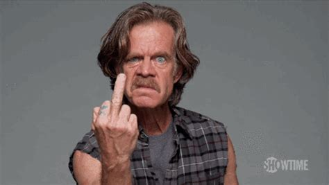 Middle Finger Meme Gif - frank gallagher gifs get the best gif on giphy