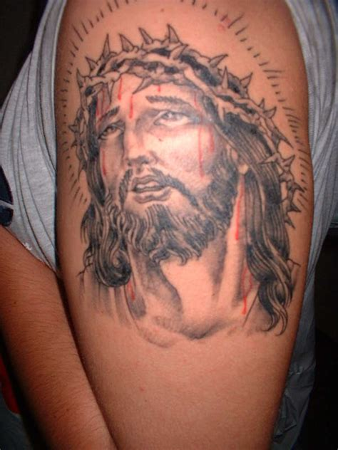fucmentrefbi jesus face tattoos
