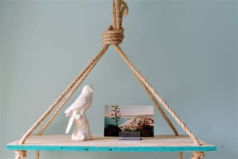 hang pictures diy hanging rope shelf
