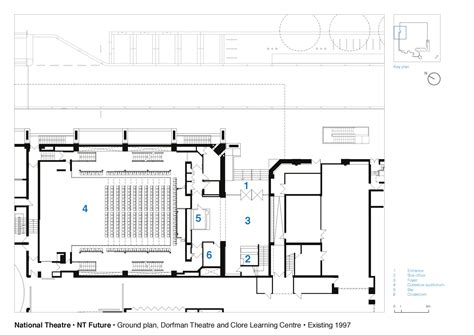 national theatre ground floor plan dorfman theatre gallery of national theatre haworth tompkins 27