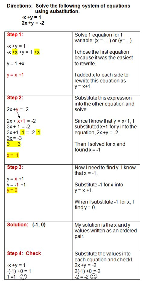 Systems Of Equations Substitution Method Worksheet Answers by Algebra 1 Solving Systems By Substitution Worksheet