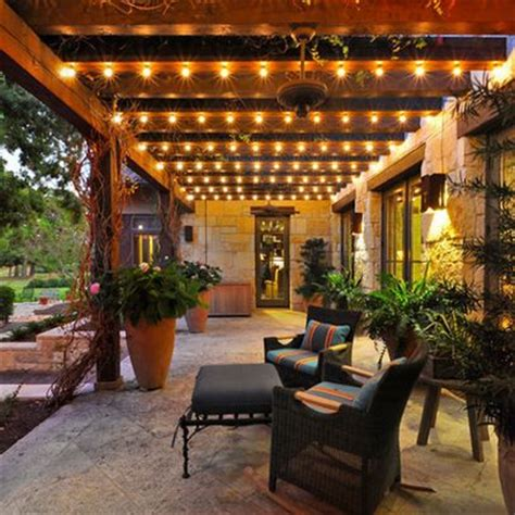 Patio With Lights The Lights On This Porch Yard Ideas