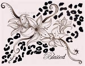 lily and cheetah print tattoo by saloni114 on deviantart
