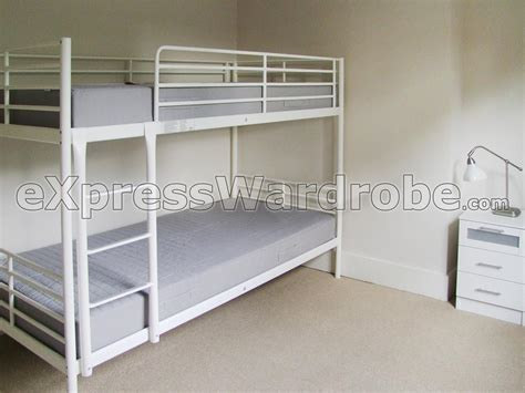Ikea White Bunk Bed New White Bunk Beds Ikea 94 In Minimalist Design Room With