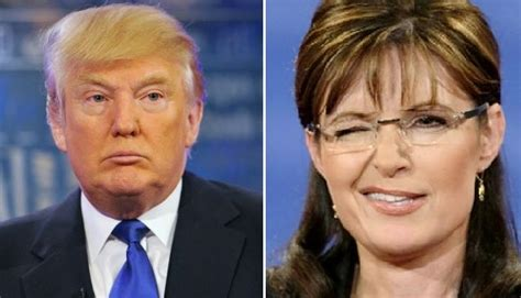 trump i would love sarah palin in my cabinet shes a trump would love to have palin in his administration