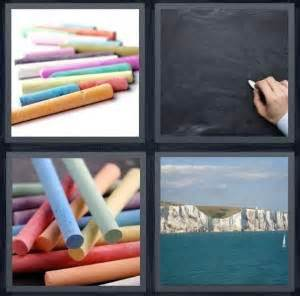 Drawing 4 Pics 1 Word by 4 Pics 1 Word Answer For Chalk Blackboard Draw Cliff