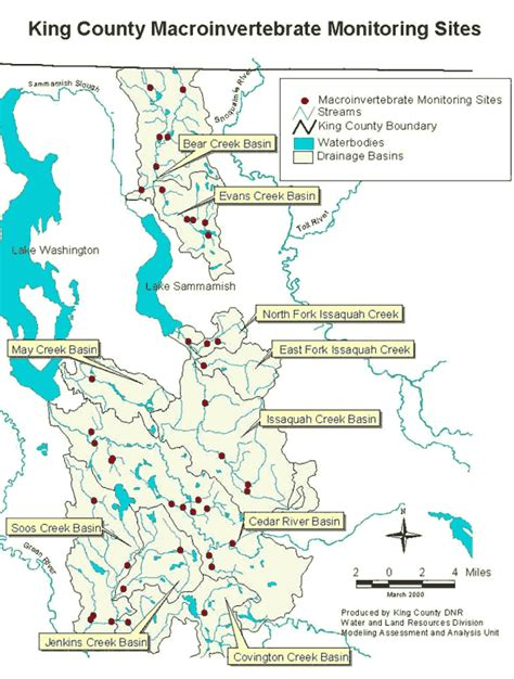 King County Washington Records Map Of Macroinvertebrate Monitoring Locations King County