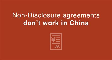China Nda Template Nda Agreements Don T Work In China But Nnn Agreements Do Everynda