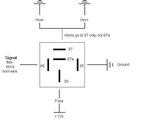 wiring diagram relay wire diagram motor relay