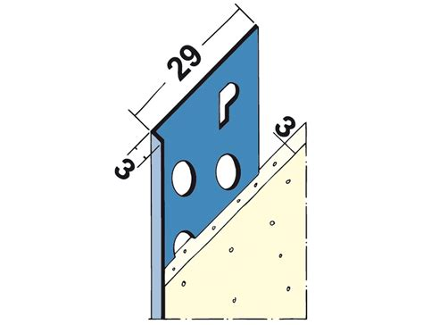 3mm stop bead thin coat and edging building profiles systems ltd