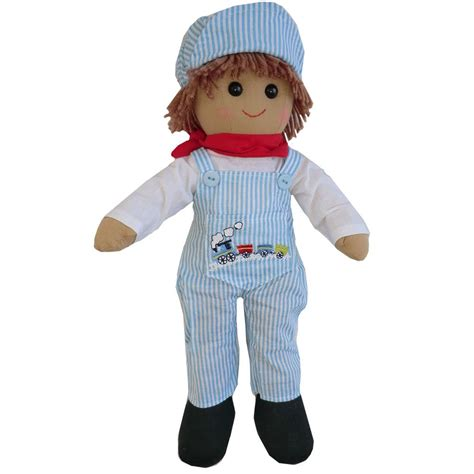 powell craft rag doll 40cm powell craft 40cm driver boy rag doll with dungarees