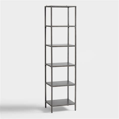 gunmetal holden open 5 shelf tower bookcase world market