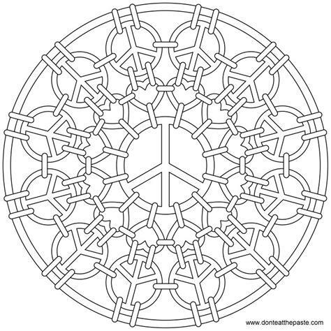 free mandala coloring pages what s your sign don t eat the paste peace mail mandala to color