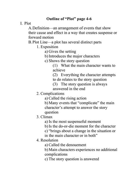 Novel Outline Template Viewing Gallery | Writing outline