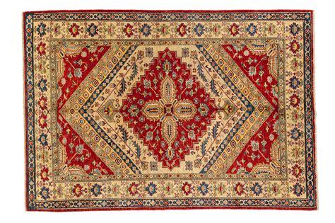 tappeto di tappeto afghano kazak geometrico 212x152