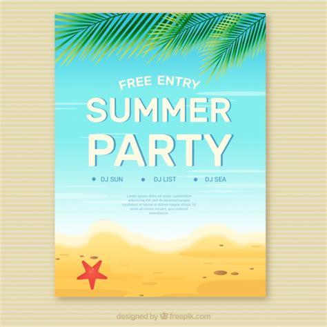 summer invitation templates free summer invitation on the vector free