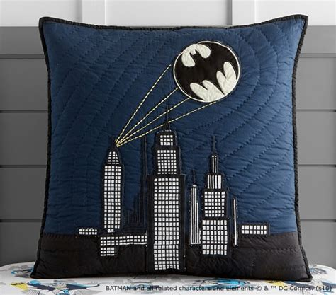 cityscape bedding batman cityscape quilted bedding pottery barn kids