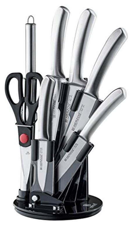 great kitchen knives herzog 8 piece knife set including acrylic stand