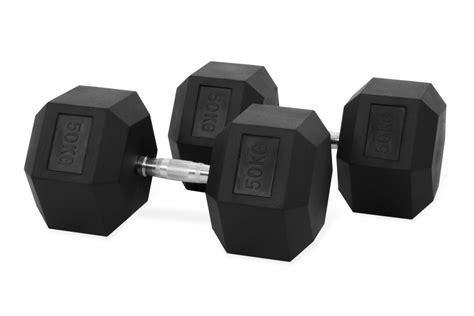 Dumbbell 50 Kg hastings hex dumbbell 50kg set for sale at helisports