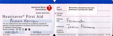 American Association Heartsaver Cpr Card Template by 28 Images Of Heartsaver Card Template Infovia Net