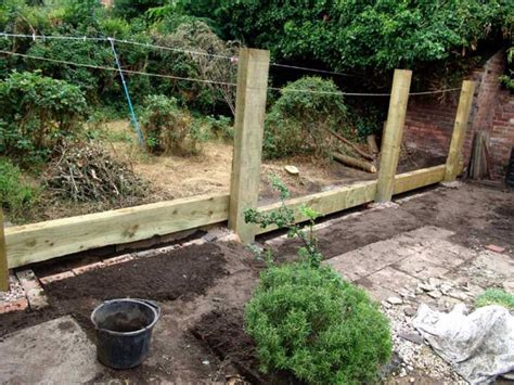 How To Fit Railway Sleepers In The Garden by Railway Sleepers
