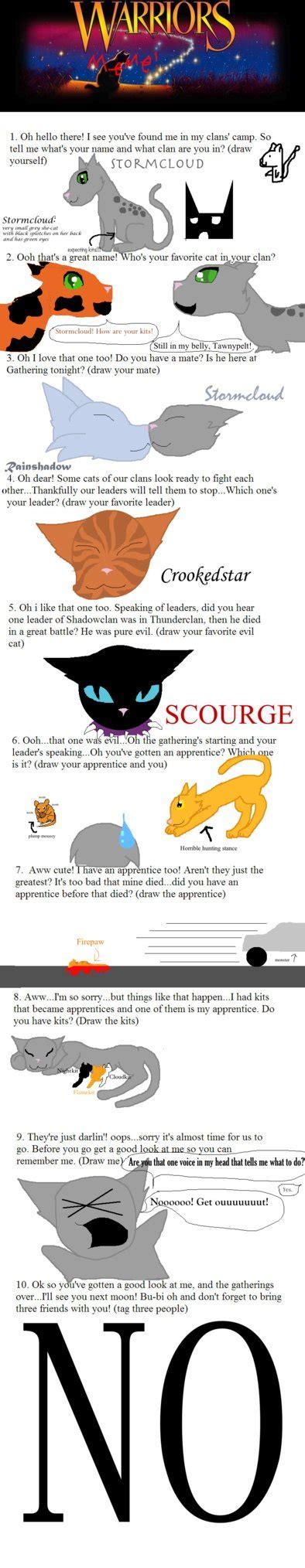 Warrior Cat Memes - warrior cats meme by hallyboo123 on deviantart