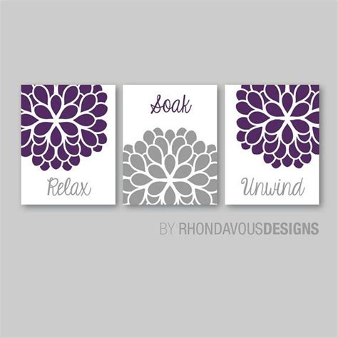 purple and grey bathroom decor bathroom decor bathroom art relax soak unwind flower