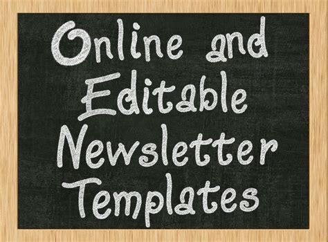 teacher editable class newsletter template