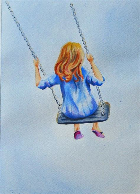 a girl on a swing girl on a swing wetcanvas