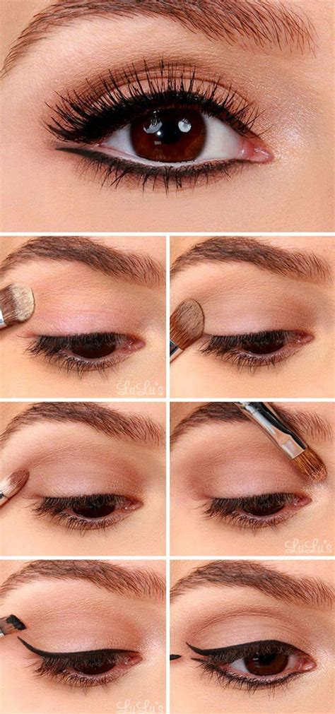 tutorial for top eyeliner 12 easy summer eye make up tutorials for beginners
