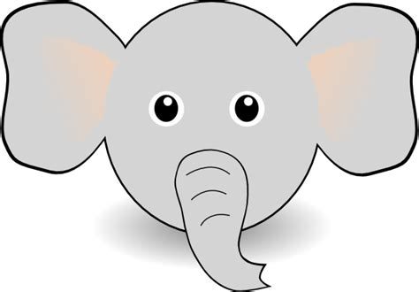 coloring page elephant face cartoon elephant face cliparts co