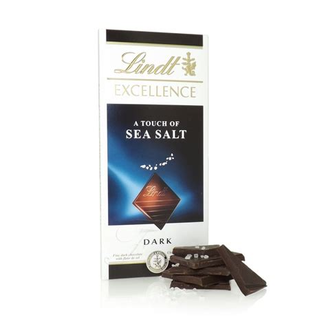 Lindt Excellence Seasalt 100g buy lindt excellence with a touch of sea salt lindt