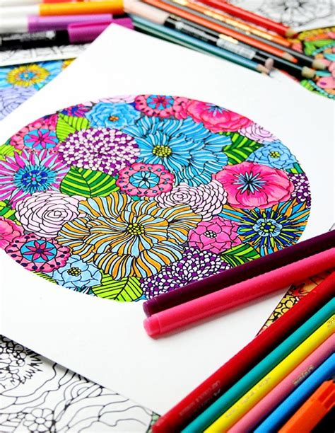 colored pencils for creative coloring books 1226 best printable coloring pages images on